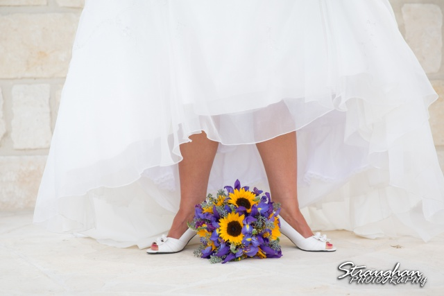 J_Miller bridal at Bella Springs feet with flowers