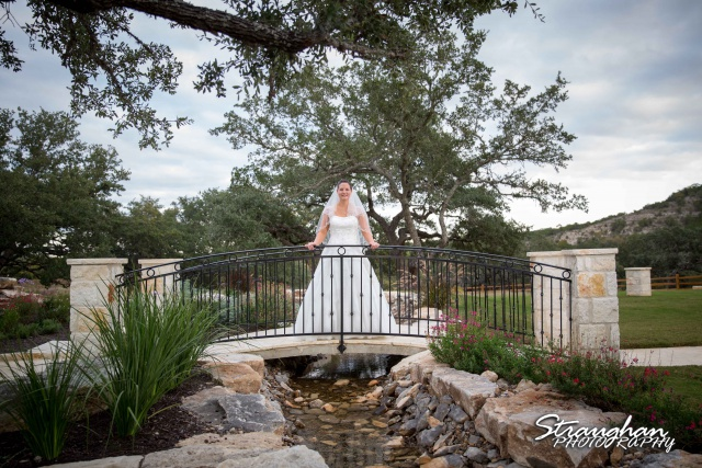 J_Miller bridal at Bella Springs on the bridge