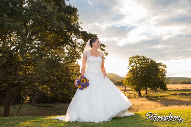 J_Miller bridal at Bella Springs landscape in the Sun