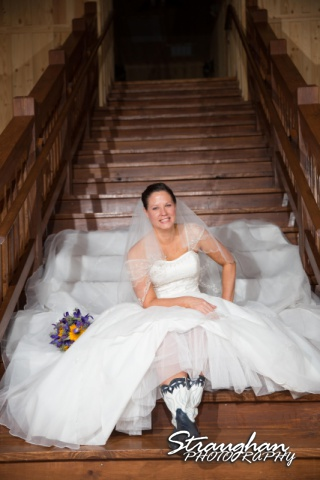 J_Miller bridal at Bella Springs on the stairs