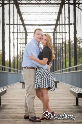Joanna's Engagement on bridge close up in color