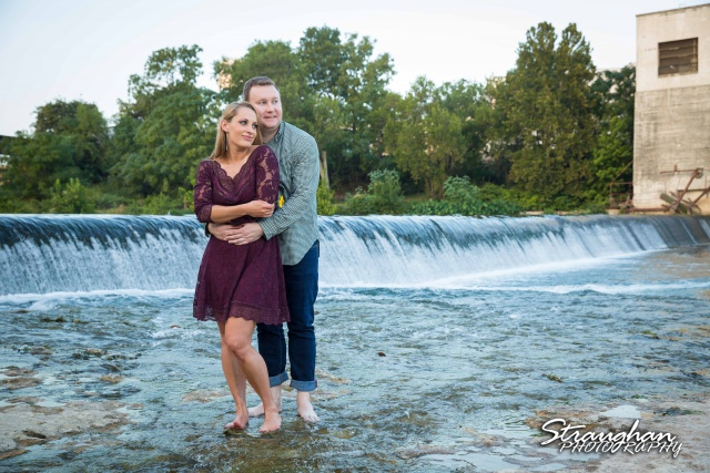 Joanna's Engagement faust street bridge by water fall
