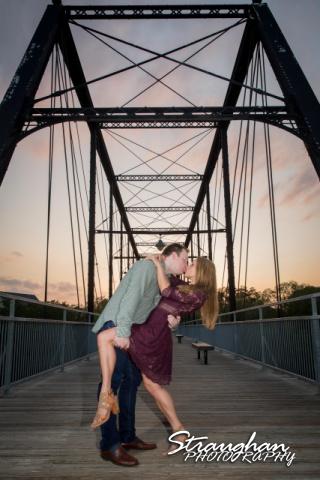 Joanna's Engagement Faust St Bridge dip yello