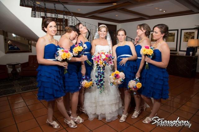 Jazmine's wedding Omni de la Mansion bridesmaids attitude