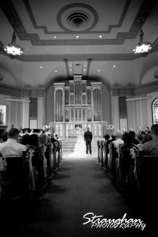 Jazmine's wedding Travis park praying bw