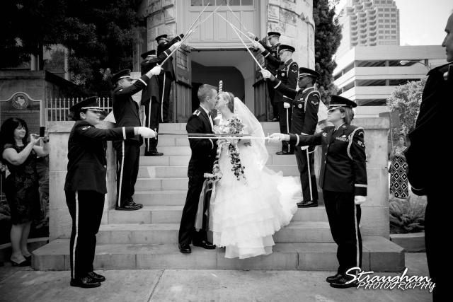 Jazmine's wedding Travis park solider exit