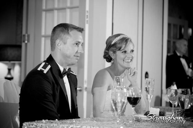 Jazmine's wedding Omni de la Mansion couple toasts