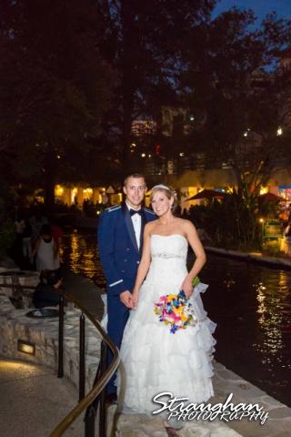 Jazmine's wedding Omni de la Mansion couple on the riverwalk
