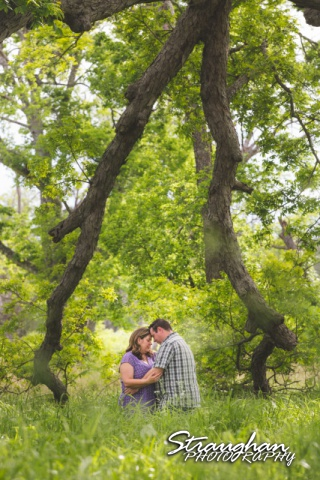 Jeanette and Travis Engagement at Crescent Bend Nature Area