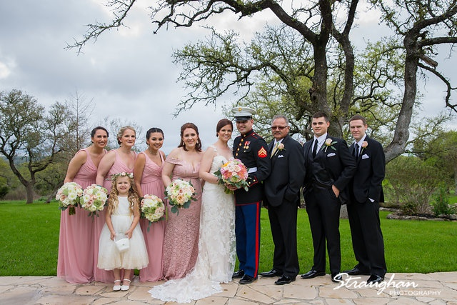 Katie and Alex Wedding the Springs New Braunfels bridal party