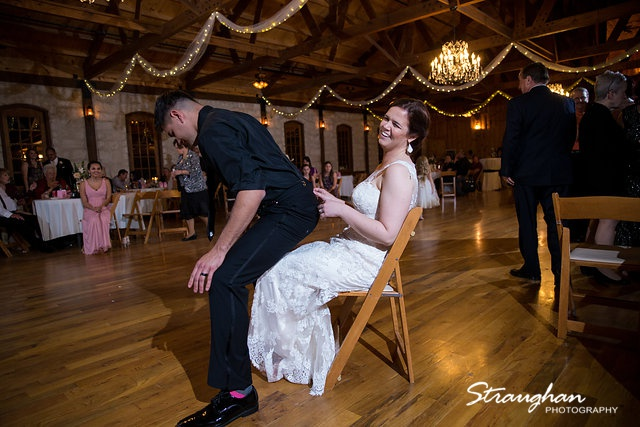 Katie and Alex Wedding the Springs New Braunfels garter