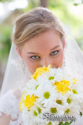Katie bridal Gruene face flowers