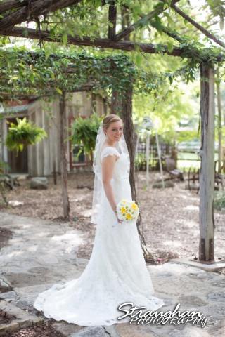 Katie bridal Gruene walking away