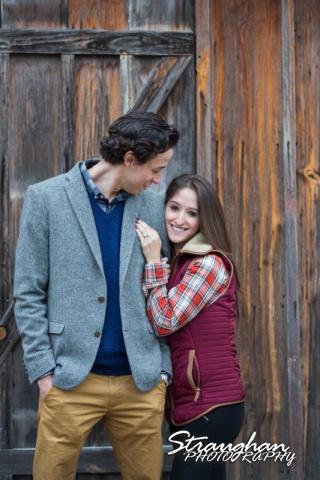 Kristina proposal Gruene couple on wood wall