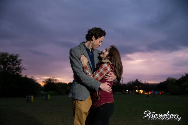 Kristina proposal Gruene sunset kiss
