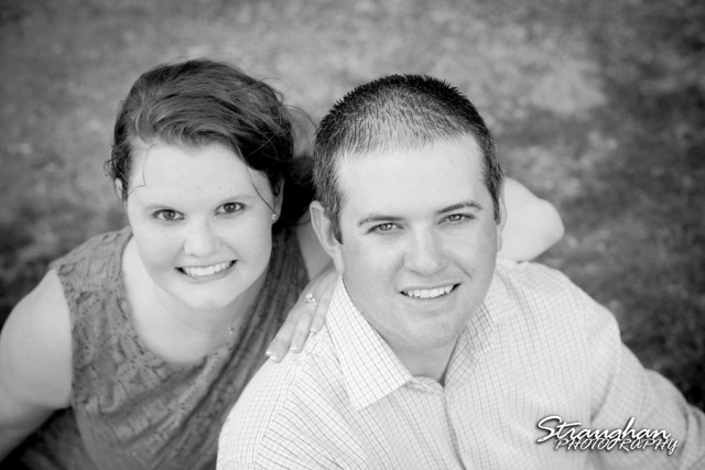 Kelly engagement Gruene closup black and white
