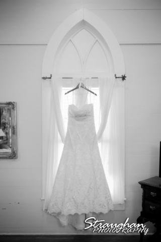 Kelley wedding St Peter's Boerne Ye Kendall Inn dress hanging