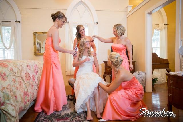 Kelley wedding St Peter's Boerne Ye Kendall Inn servant girls