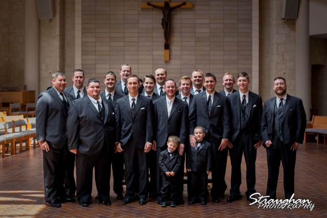 Kelley wedding St Peter's Boerne the guys in the chapel