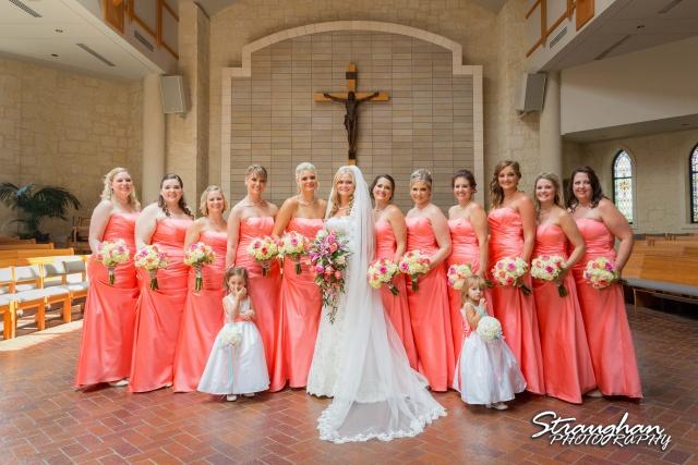 Kelley wedding St Peter's Boerne Ye Kendall Inn the girls