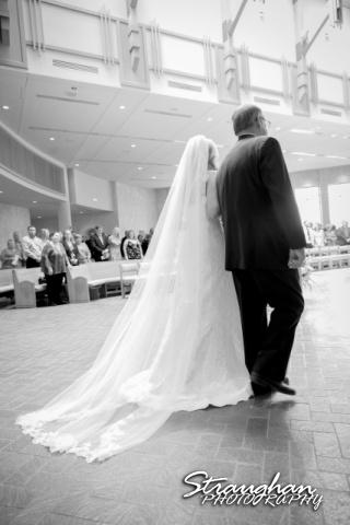 Kelley wedding St Peter's Boerne down the aisle 2