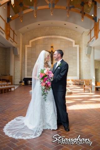Kelley wedding St Peter's Boerne couple in the chapel