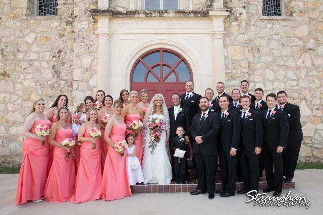 Kelley wedding St Peter's Boerne bridal party