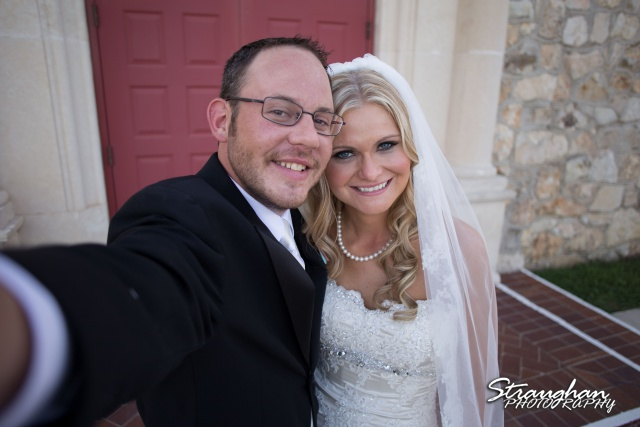 Kelley wedding St Peter's Boerne selfie