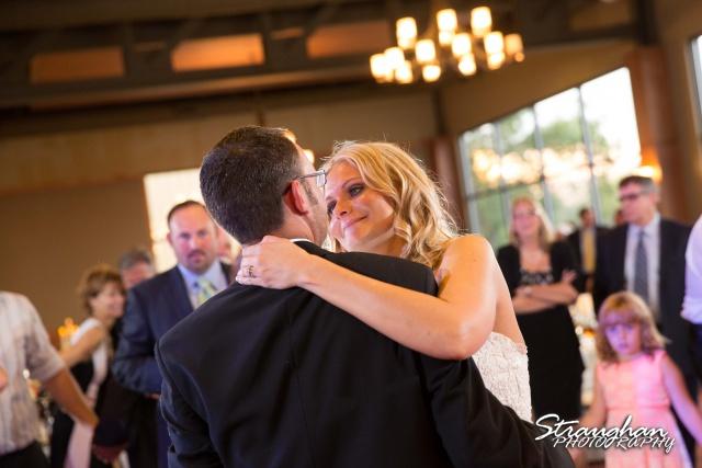 Kelley wedding St Peter's Boerne first dance kelley's face