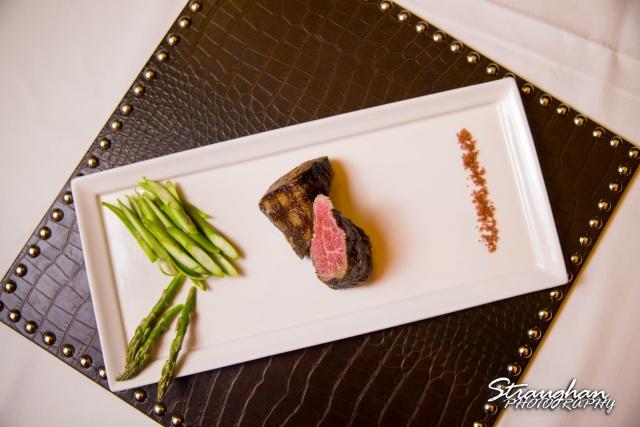 Kirby's San Antonio Steak House filet with asparagus