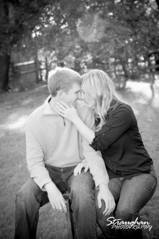 Katie's engagement in Gruene bw