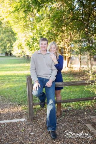Katie's engagement in Gruene fence