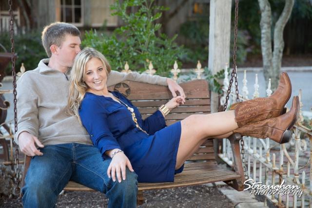 Katie's engagement in Gruene swing