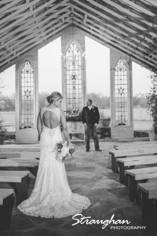 Kristin's wedding at Gruene Estates black and white couple