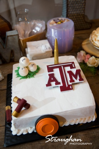 Kristin's wedding at Gruene Estates grooms cake