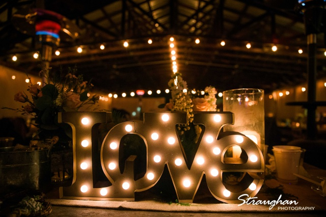 Kristin's wedding at Gruene Estates love letters