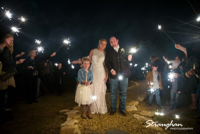 Kristin's wedding at Gruene Estates sparklers