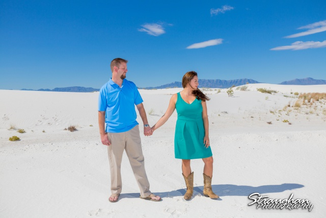 Kevin engagement at white sands standing
