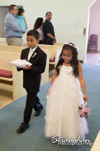 Krystle wedding New Mexico kids down the aisle