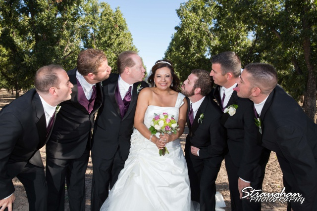 Krystle wedding New Mexico brides with groomsmen