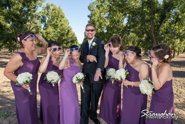 Krystle wedding New Mexico groom with groomsmen