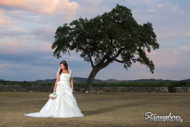 Krystle bridal The 1850 Settlement with the big tree