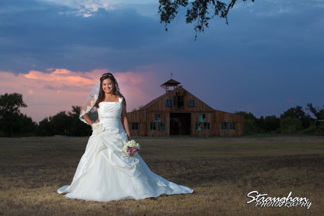 Krystle bridal The 1850 Settlement sunset with barn