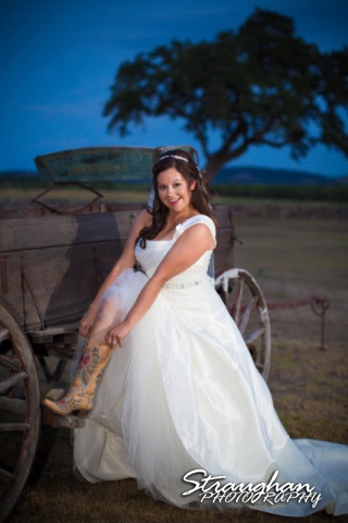 Krystle bridal The 1850 Settlement silly boot photo