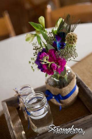 Kristan's wedding Bella Springs Boerne centerpiece