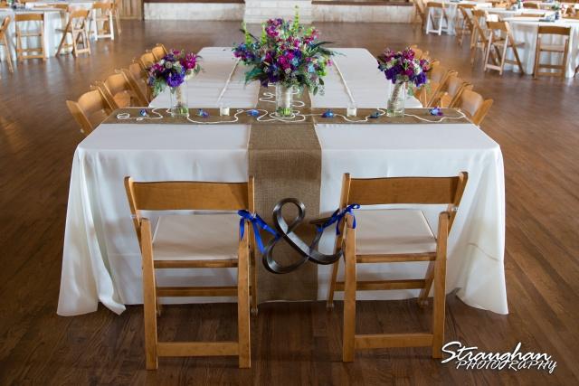 Kristan's wedding Bella Springs Boerne head table