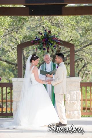 Kristan's wedding Bella Springs Boerne bride and groom laughinh