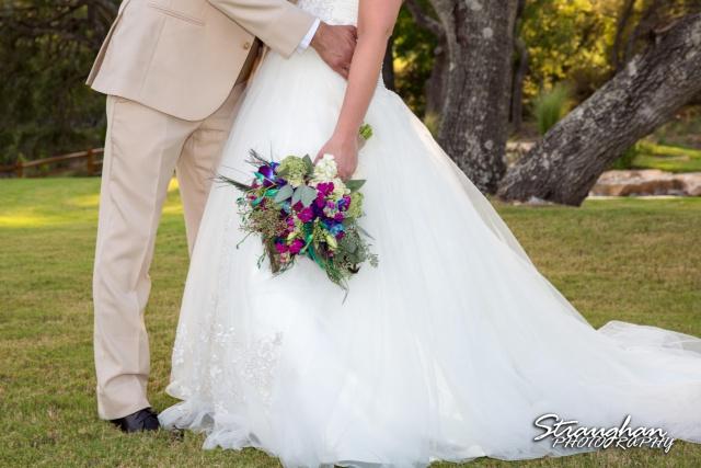 Kristan's wedding Bella Springs Boerne the bouquet