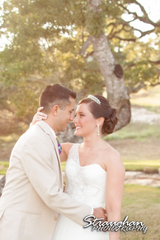 Kristan's wedding Bella Springs Boerne the couple sunset 1