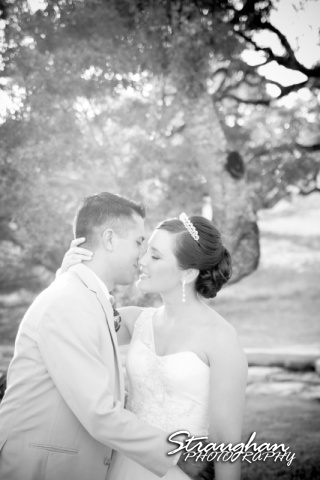 Kristan's wedding Bella Springs Boerne the couple black white